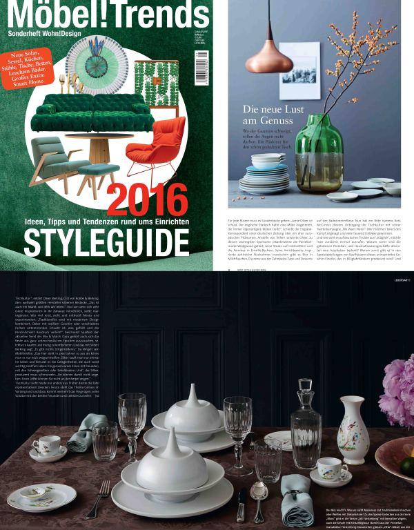 Magazin Wohn!Design_Veröffentlichung zu_FÜRSTENBERG Porzellan