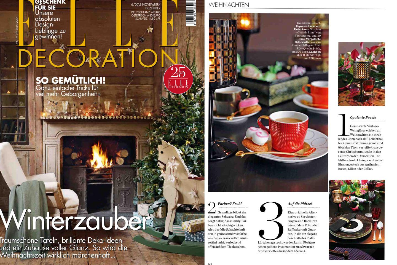 Veröffentlichung in Elle Decoration_FÜRSTENBERG Porzellan