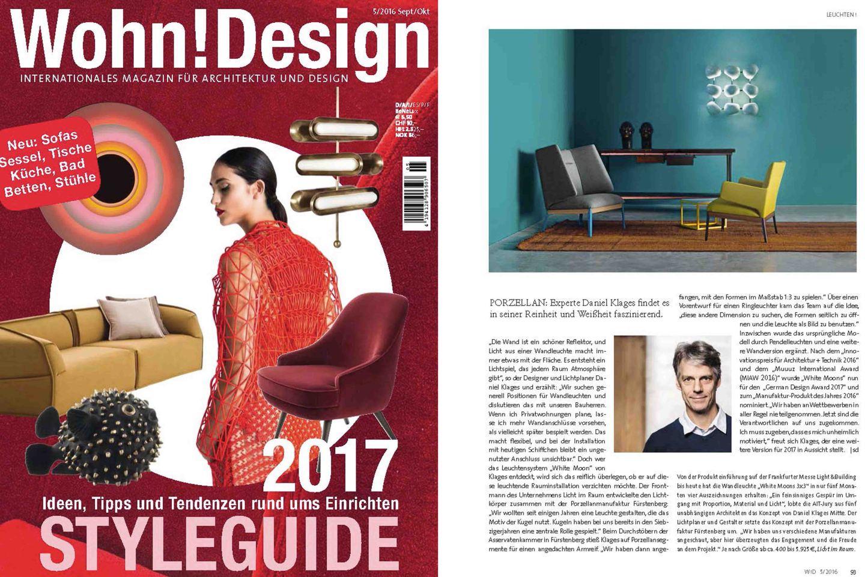 Veröffentlichung in Wohn! Design_FÜRSTENBERG Porzellan