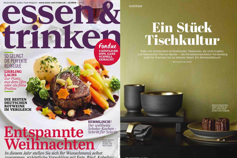 FÜRSTENBERG Veröffentlichung im Magazin essen&trinken