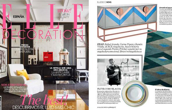 Porzellanserie Fluen im Magazin Elle Deocration spanische Ausgabe