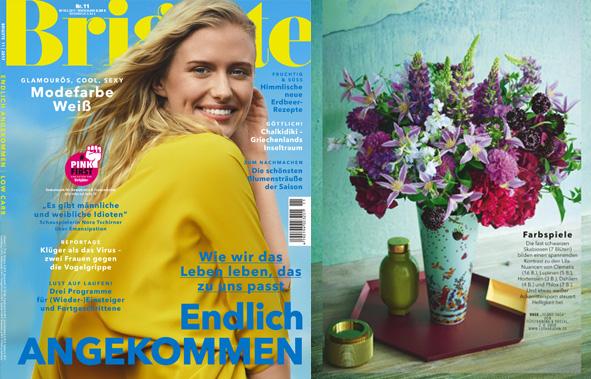 Veröffentlichung von FÜRSTENBERG Vasen in der aktuelle Ausgabe der Brigitte Mai 2017