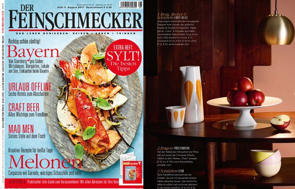 Veröffentlichung von Fluen in dem Magazin Der Feinschmecker