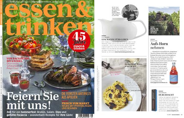 Veröffentlichung von Fluen in dem Magazin essen&trinken