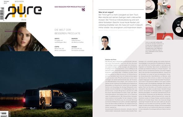 Veröffentlichung von FÜRSTENBERG in der aktuellen Ausgabe der Pure