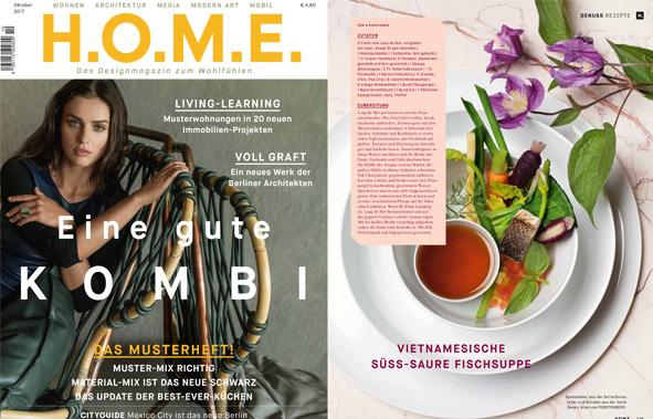 Veröffentlichung von OMNIA in der Oktober Ausgabe der H.O.M.E