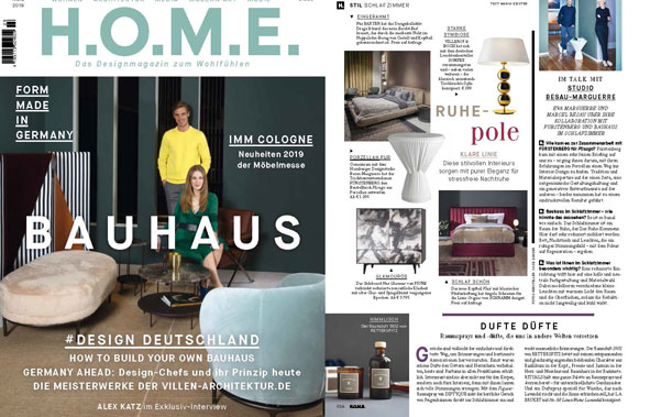 Titelseite der Ausgabe Home aus dem April 2019