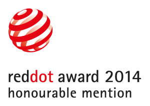 Logo reddot award 2014 honourable mention_FÜRSTENBERG Porzellan