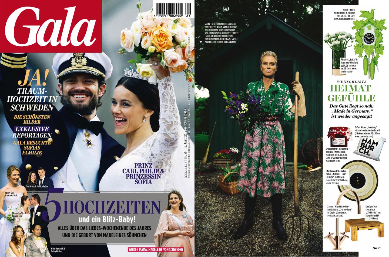 FÜRSTENBERG Veröffentlichung Zeitschrift GALA Juni 2015 Produkt CLAIR DE LUNE - Fürstenberg Porzellan