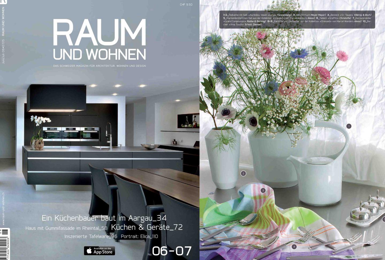 Veröffentlichung FÜRSTENBERG AURÉOLE in der schweizer Zeitschrift RAUM und WOHNEN_FÜRSTENBERG Porzellan