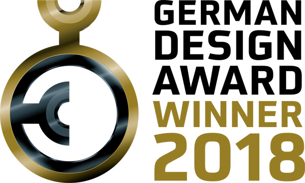 Logo German Design Award 2018 für Fluen