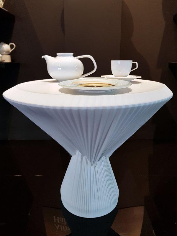 Plissee Tisch FÜRSTENBERG